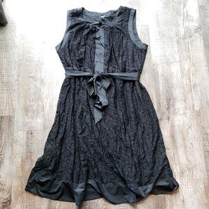 Alfani Belted Black Dress
